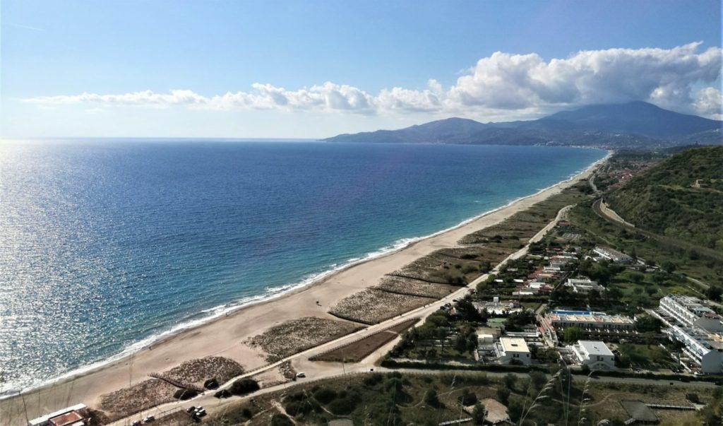 Spiaggia di marina d'ascea la lunga costa il cilentano cilento