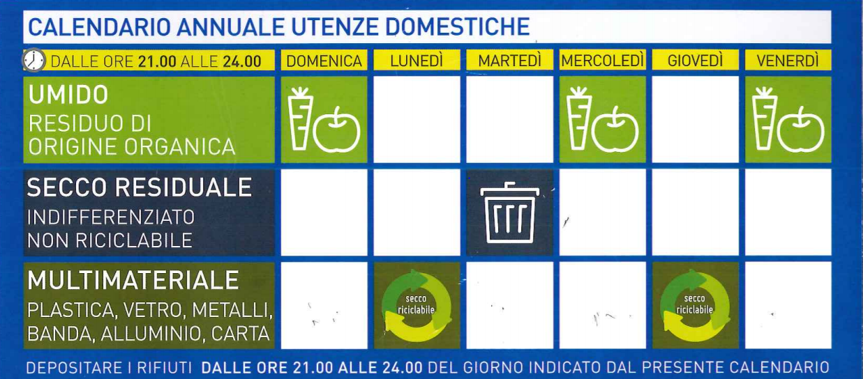 Calendario Rifiuti.Raccolta Differenziata Ad Ascea Il Calendario Del