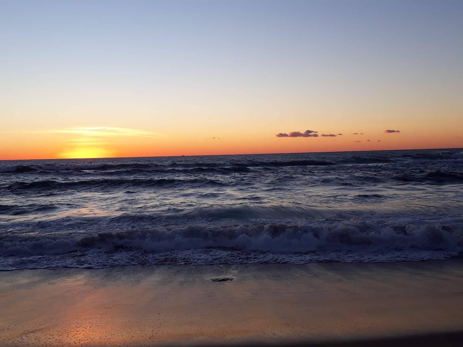 spiagge di Palinuro, tramonto spiaggia delle saline palinuro