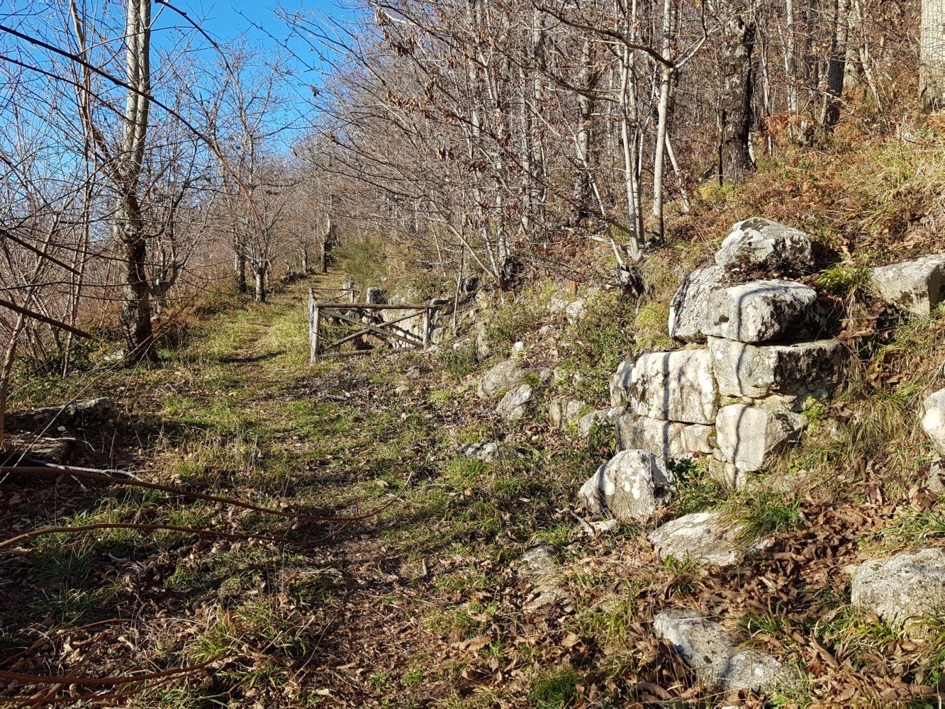 mura fortificazione scavi della civitella