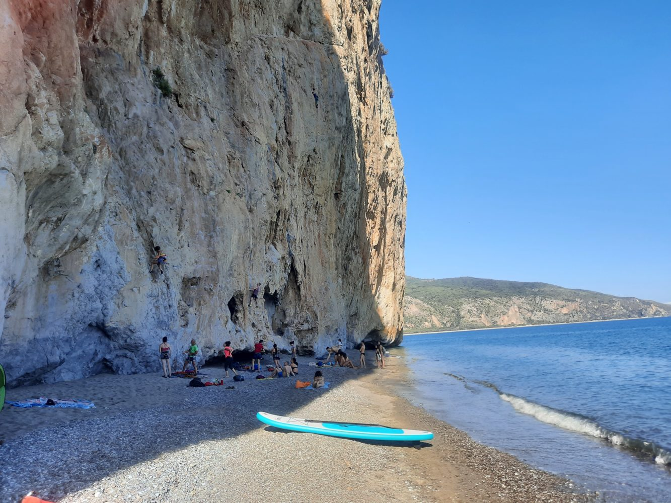 Spiaggia della Molpa, mare e arrampicate sulle falesie di Palinuro