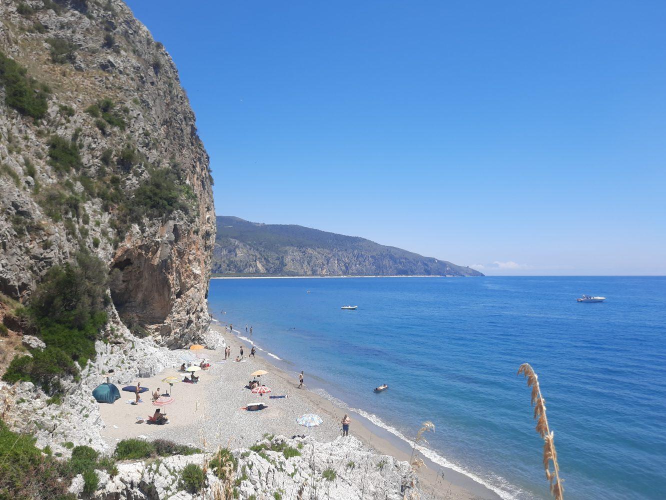 spiaggia della molpa palinuro tra falesie klimbing e mare (4)