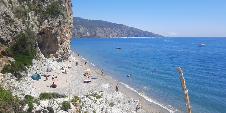 spiaggia della molpa palinuro tra falesie klimbing e mare (5)