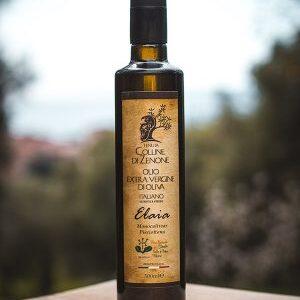 Olio Extravergine d'oliva Colline di Zenone Elaia bottiglia e lattina (2)