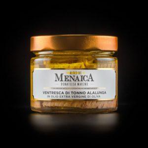 ventresca di tonno alalunga in olio evo alici di menaica donatella marino 250 gr (2)